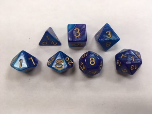 Blue Deep Purple Blend Set of 7 Dice