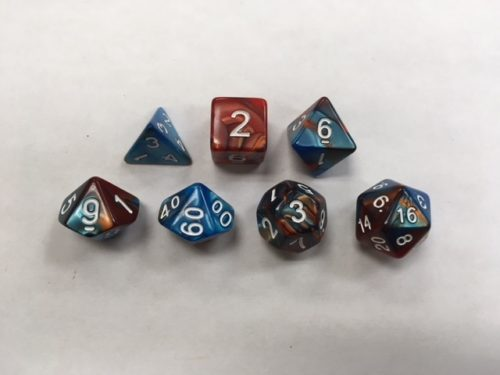 Blue-Golden-Blend-Set-of-7-Dice