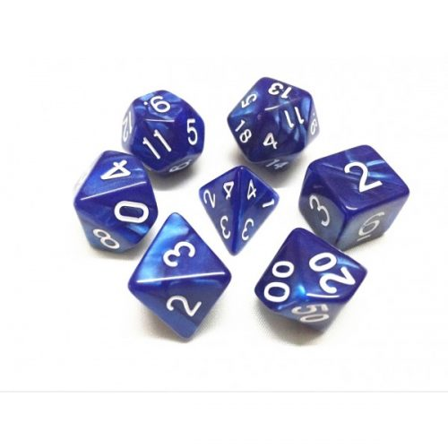 Blue Pearl Dice Set - DiceEmporium.com