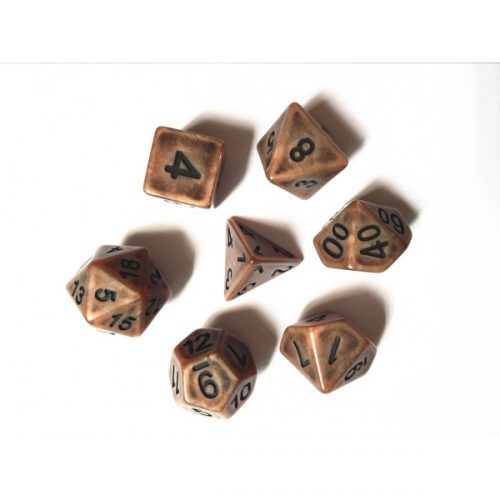 Copper Ancient Dice Set - DiceEmporium.com