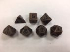 Copper Ancient Set of 7 Dice