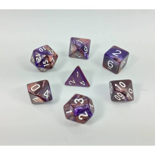 Copper Blue Blend Dice Set - DiceEmporium.com