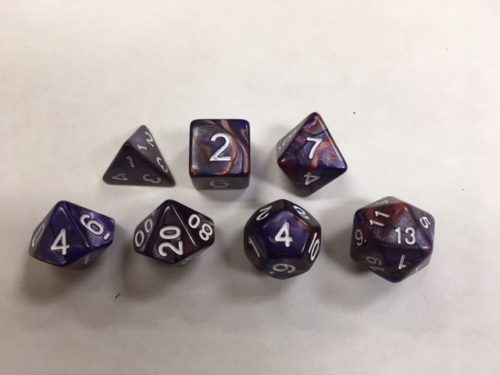 Copper Blue Blend Set of 7 Dice