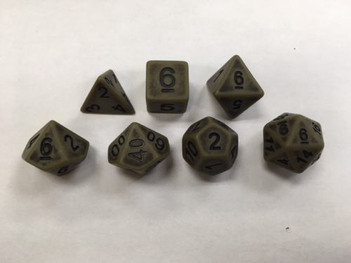 Cyan Ancient Set of 7 Dice