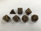 Gold Ancient Set of 7 Dice