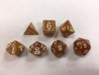 Golden Pearl Set of 7 Dice