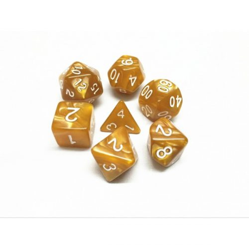 Golden Pearl Dice Set - DiceEmporium.com
