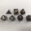 Gold Silver Blend Set of 7 Dice