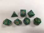 Grass Green Pearl Set of 7 Dice