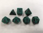 Green Ancient Set of 7 Dice