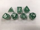 Green-Glitter-Set-of-7-Dice