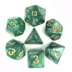 Green-Golden-Font-Pearl-Dice-Set