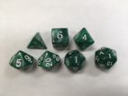 Green Pearl Set of 7 Dice