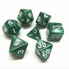 Green Pearl Dice Set - DiceEmporium.com