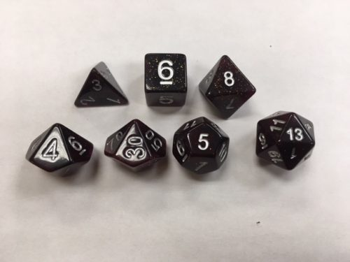 Purple Set of 7 Dice