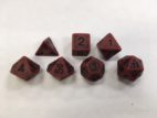 Red Ancient Set of 7 Dice