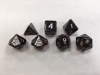 Red Set of 7 Dice - DiceEmporium.com