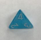 4 Sided Cirrus Light Blue w/white Dice