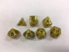 Yellow Pearl Set of 7 Dice