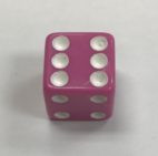 16mm d6 Pastel Purple White Dice - DiceEmporium.com