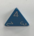 Opaque Light Blue/White d4 Dice - DiceEmporium.com