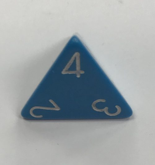 Opaque Light Blue/white d4