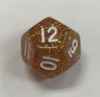Glitter d12 Yellow Dice - DiceEmporium.com