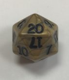 Gold Olympic d20 Dice - DiceEmporium.com