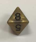 Gold Olympic D8 Dice - DiceEmporium.com