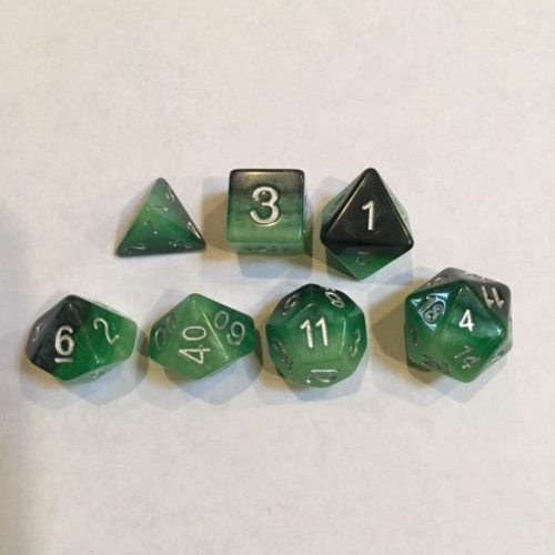Green-Gradients-Dice-Set