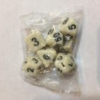 Ivory-Opaque-Dice-Set