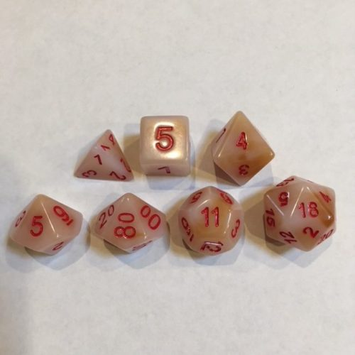 White-Red-Font-Jade-Dice-Set