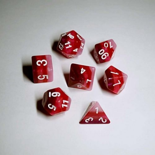 Red-Gradients-Dice-Set