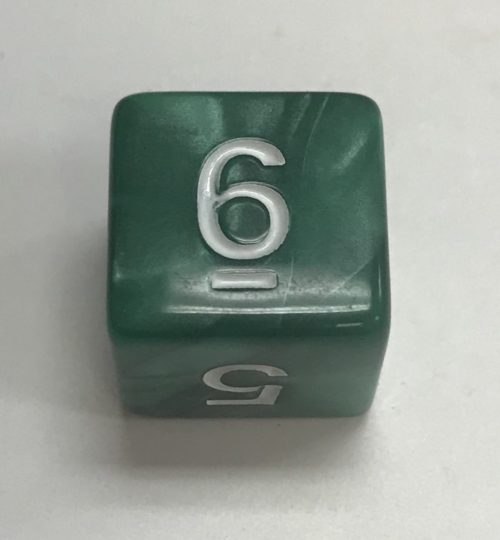 d6-pearl-green-white-numbers