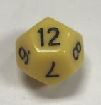 12 Sided Yellow Black d12 HD Dice - DiceEmporium.com