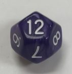 12 Sided Pearl Purple White d12 HD Dice - DiceEmporium.com
