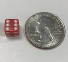 8mm Opaque Red White d6 Dice - DiceEmporium.com