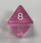 d8 8 Sided Clear Pink HD Dice - DiceEmporium.com