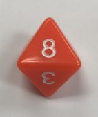 d8 8 Sided Orange Opaque HD Dice - DiceEmporium.com