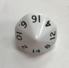 16 Sided Opaque White d16 Dice - DiceEmporium.com