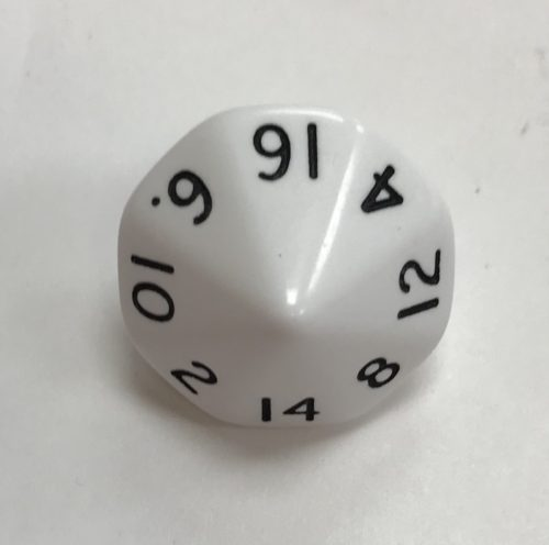 16-Sided-Opaque-Dice-White