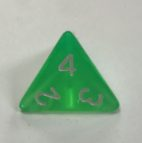 d4 4 Sided Translucent Green White Dice - DiceEmporium.com