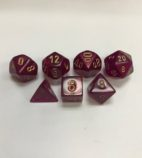 Translucent-Borealis-Magenta-Gold-Chessex-7-Die-Set