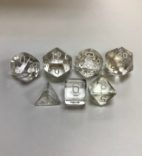 Translucent-Clear-White-Chessex-7-Die-Set