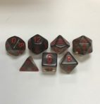 Translucent-Smoke-Red-Chessex-7-Die-Set