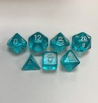 Translucent-Teal-White-Chessex-7-Die-Set