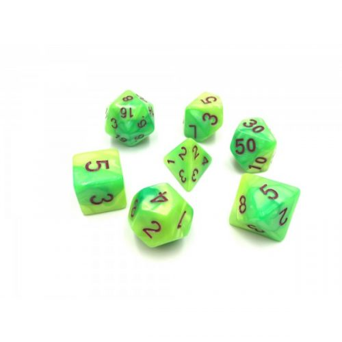 Yellow-Green-Blend-Dice-Set
