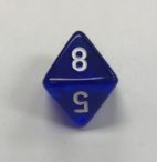 8 Sided Clear Blue White Chessex Dice - DiceEmporium.com