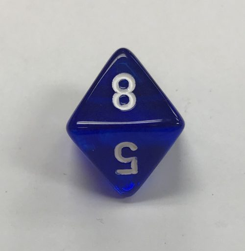 8-sided-clear-blue-white-chessex