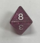 8 Sided Glitter Purple White HD Dice - DiceEmporium.com